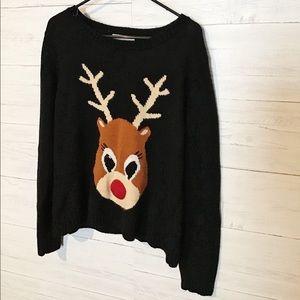 Rudolph reindeer sweater XL